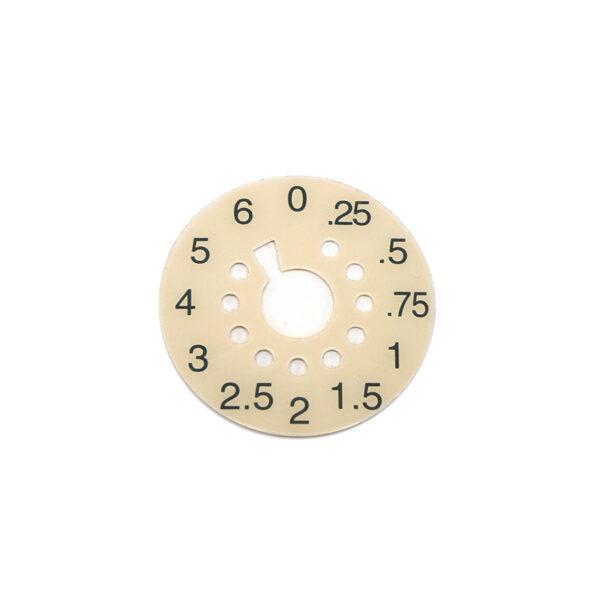Puritan Bennett Number Disc 0-6