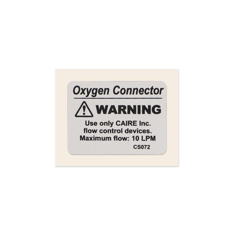 Helios H46/U46 Oxygen Outlet Reservoir Decal