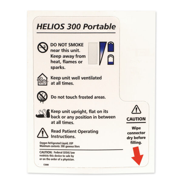 Helios H-300 Rear Cover Decal